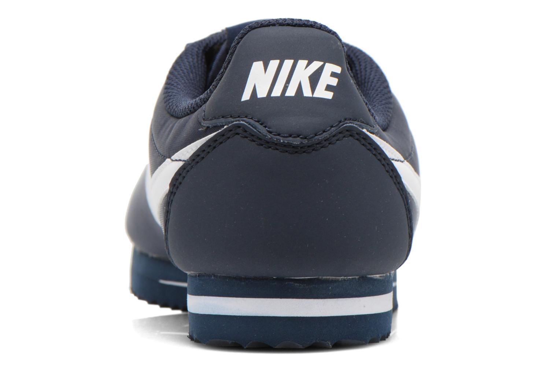 Sneaker Nike Cortez Nylon (Gs) blau ansicht von rechts