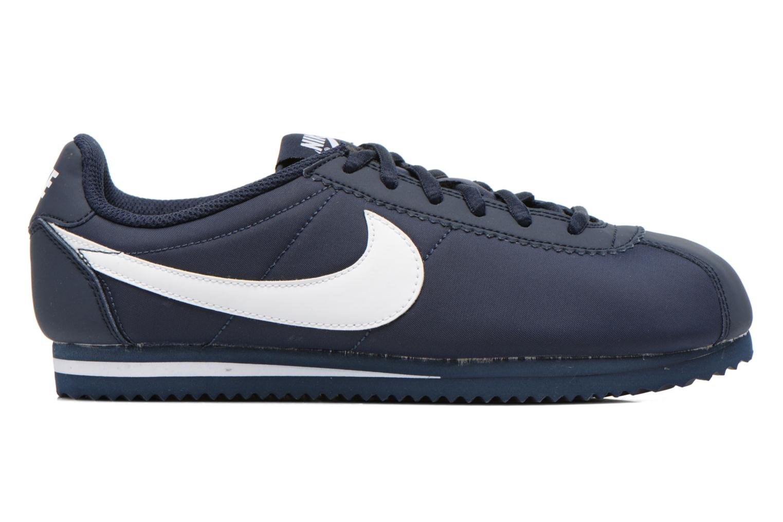 Sneaker Nike Cortez Nylon (Gs) blau ansicht von hinten