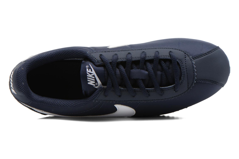 Sneaker Nike Cortez Nylon (Gs) blau ansicht von links
