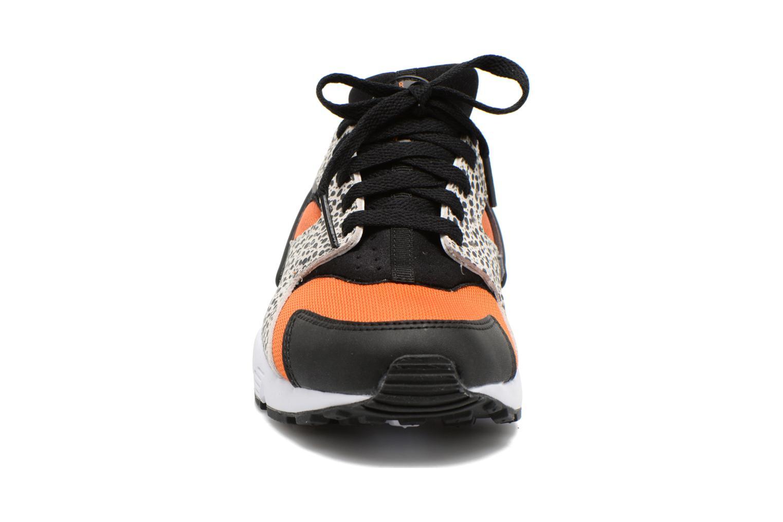 Sneaker Nike Huarache Run Safari (Gs) schwarz schuhe getragen