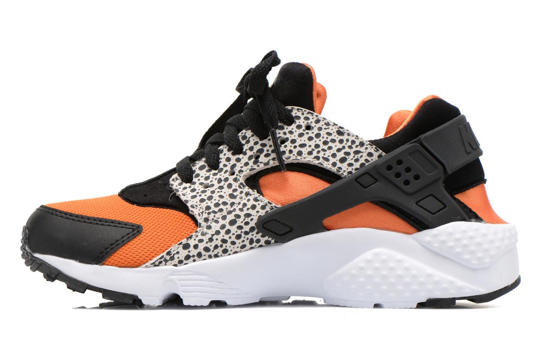 Sneaker Nike Huarache Run Safari (Gs) schwarz ansicht von vorne