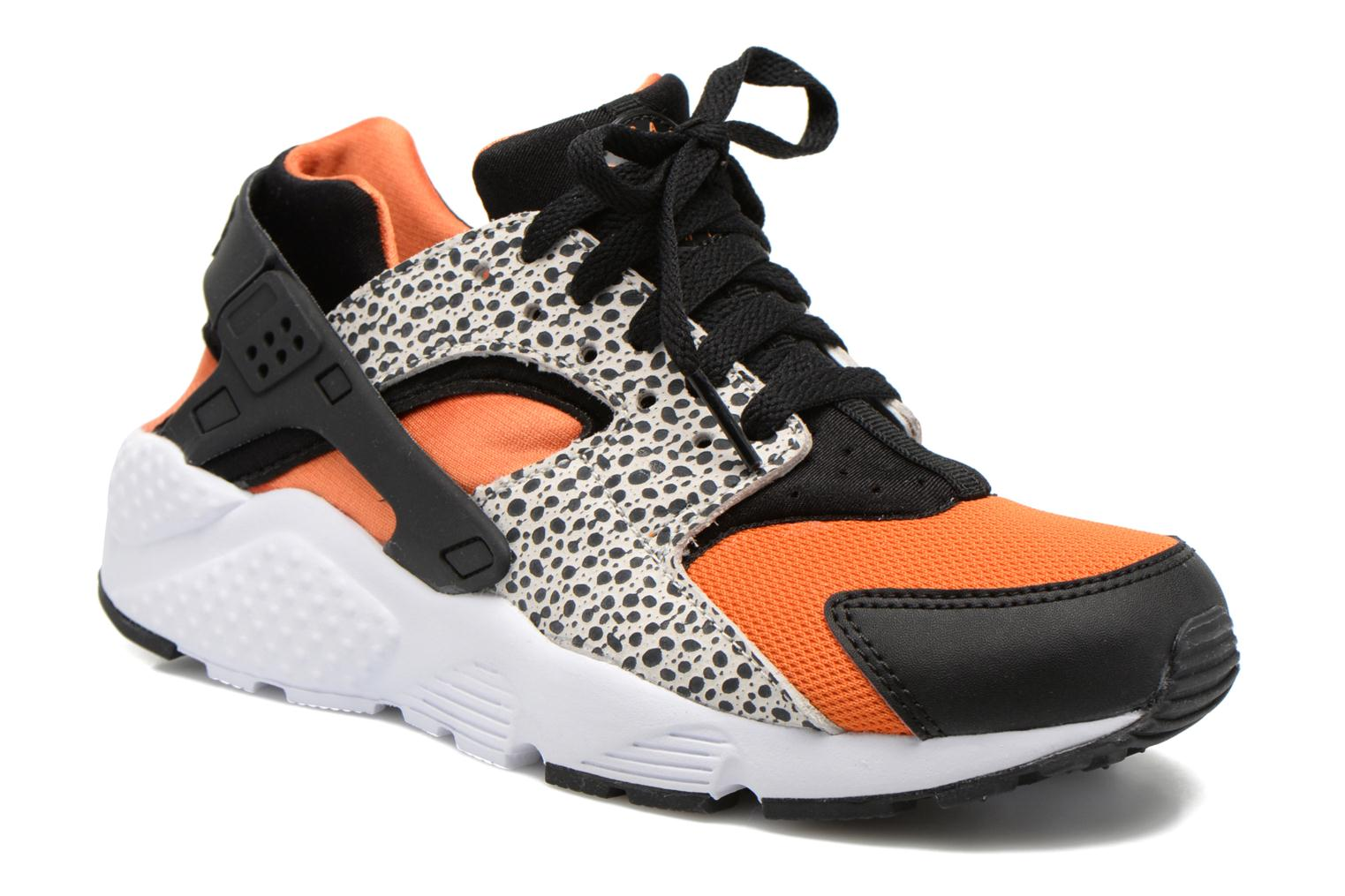 Baskets Nike Huarache Run Safari (Gs) Noir vue détail/paire