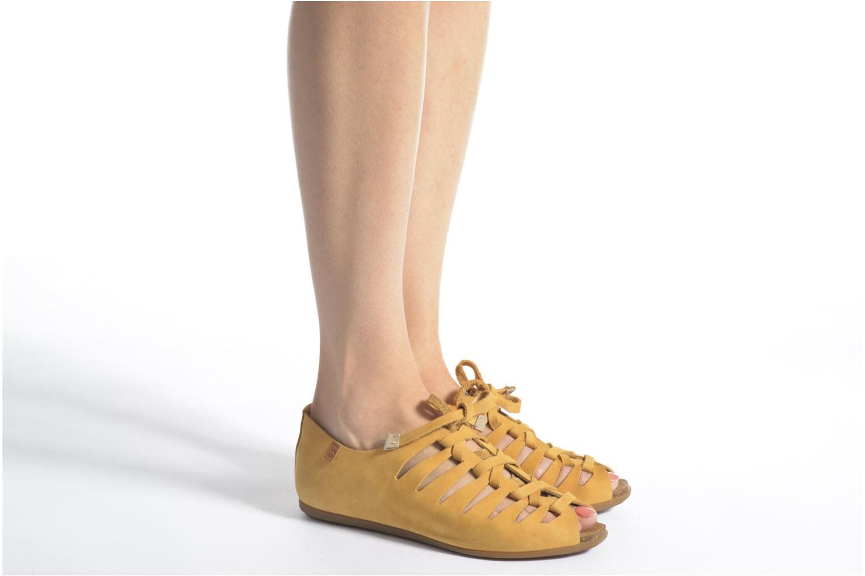 Chaussures à lacets El Naturalista Stella ND52 Jaune vue bas / vue portée sac
