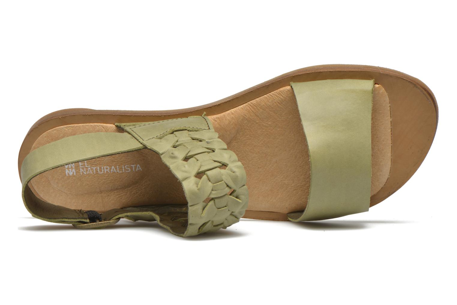 Sandals El Naturalista Tulip NF31 Green view from the left