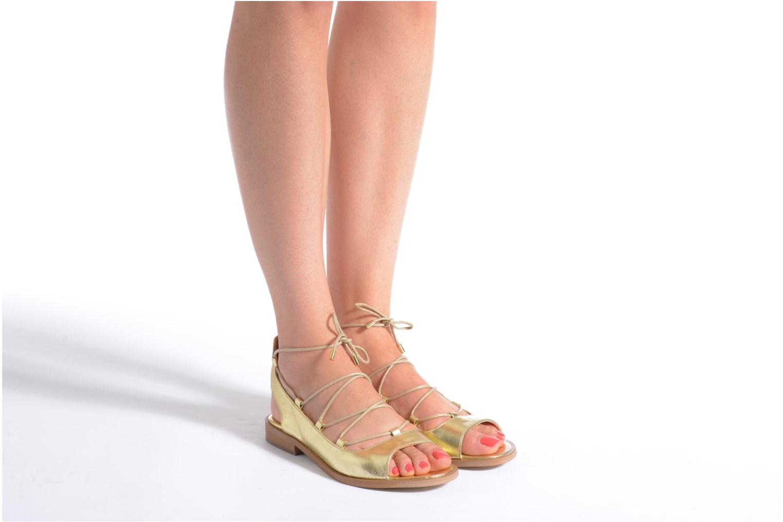 Sandales et nu-pieds Made by SARENZA Discow Girl #4 Or et bronze vue bas / vue portée sac