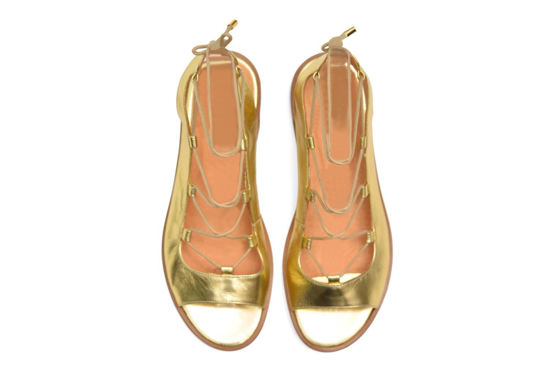 Sandales et nu-pieds Made by SARENZA Discow Girl #4 Or et bronze vue haut