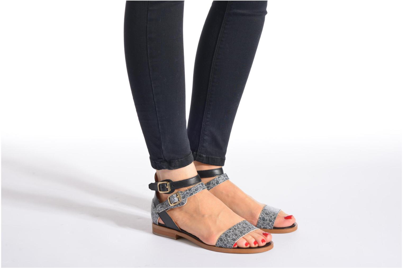 Sandales et nu-pieds Made by SARENZA Discow Girl #6 Noir vue bas / vue portée sac