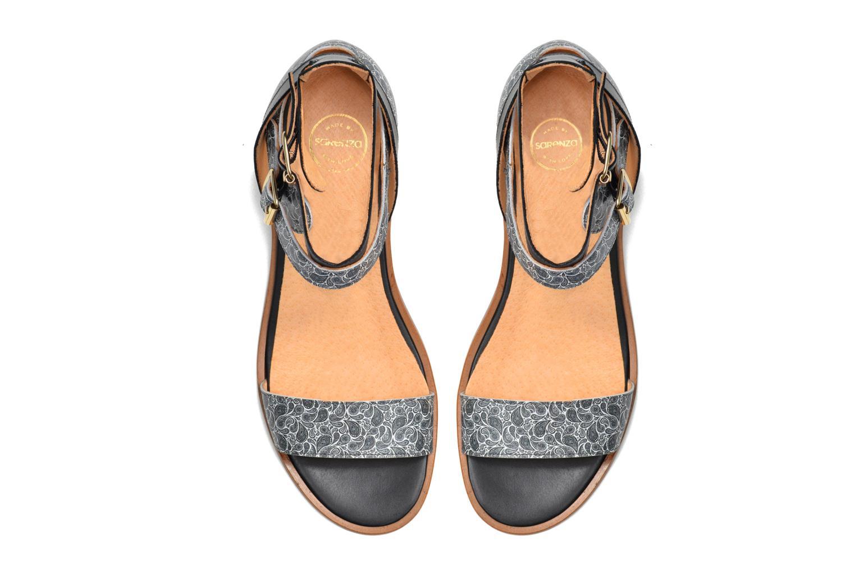 Sandales et nu-pieds Made by SARENZA Discow Girl #6 Noir vue haut