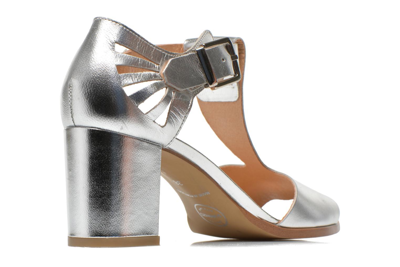 Sandales et nu-pieds Made by SARENZA Square Simone#4 Argent vue portées chaussures