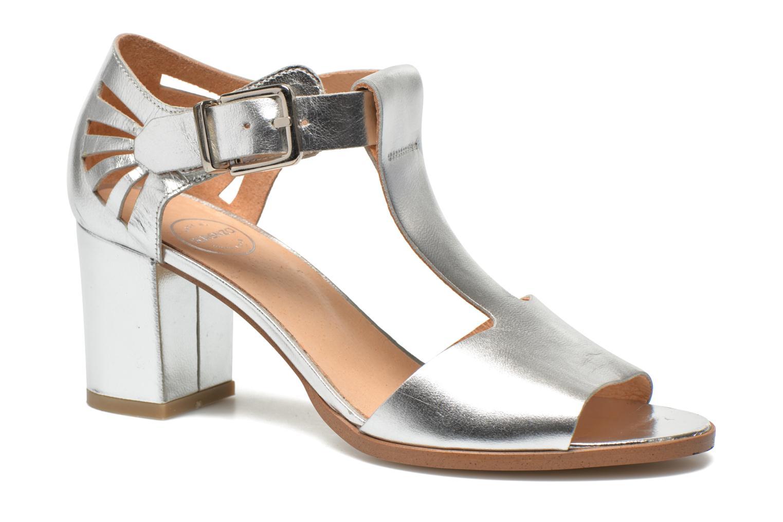 Sandales et nu-pieds Made by SARENZA Square Simone#4 Argent vue face
