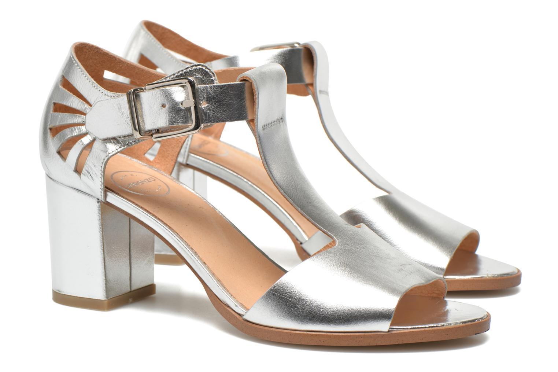 Sandales et nu-pieds Made by SARENZA Square Simone#4 Argent vue droite