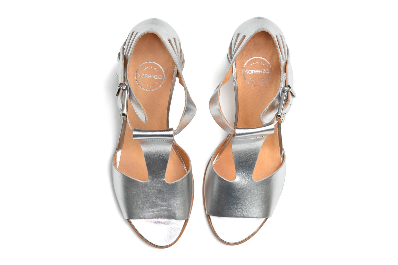 Sandales et nu-pieds Made by SARENZA Square Simone#4 Argent vue haut