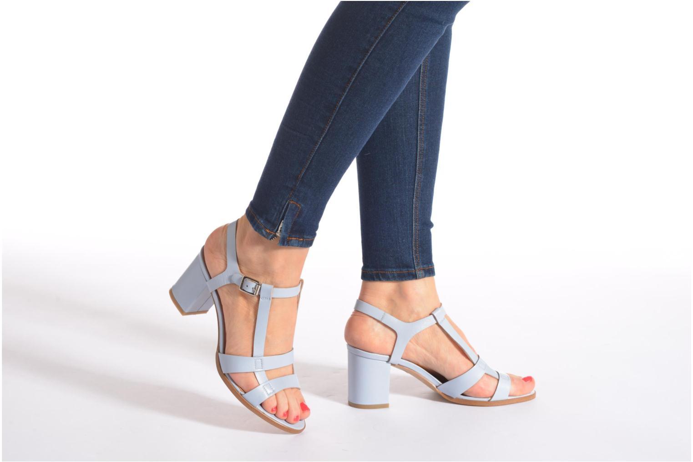Sandales et nu-pieds Made by SARENZA Square Simone#5 Bleu vue bas / vue portée sac
