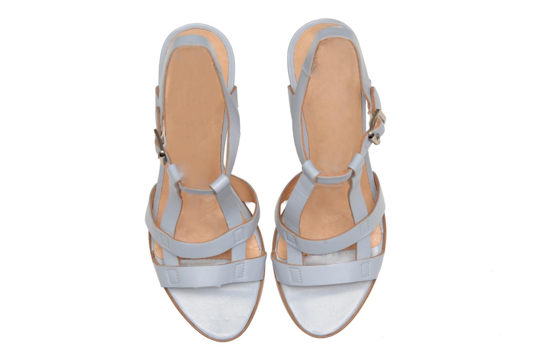 Sandales et nu-pieds Made by SARENZA Square Simone#5 Bleu vue portées chaussures