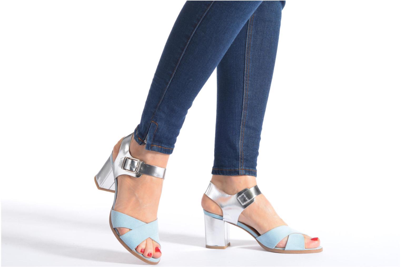 Sandales et nu-pieds Made by SARENZA Menthe Hello #19 Bleu vue bas / vue portée sac