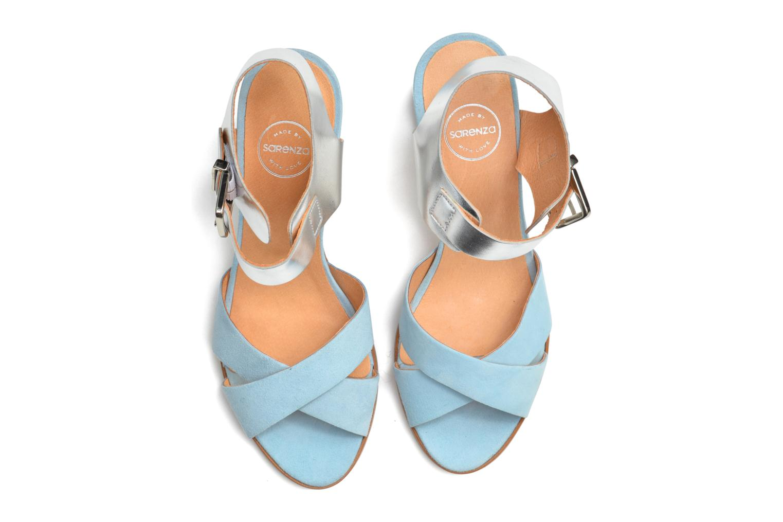 Sandales et nu-pieds Made by SARENZA Menthe Hello #19 Bleu vue haut