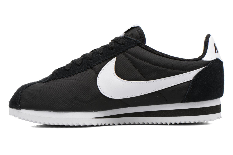 Sneaker Nike Classic Cortez Nylon schwarz ansicht von vorne