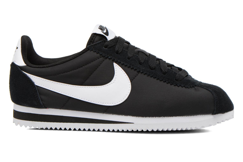 Sneaker Nike Classic Cortez Nylon schwarz ansicht von hinten