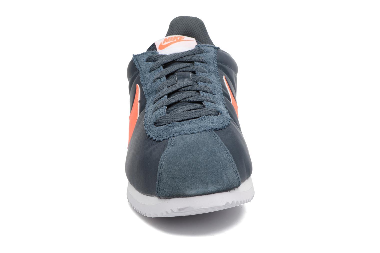 Sneaker Nike Classic Cortez Nylon blau schuhe getragen