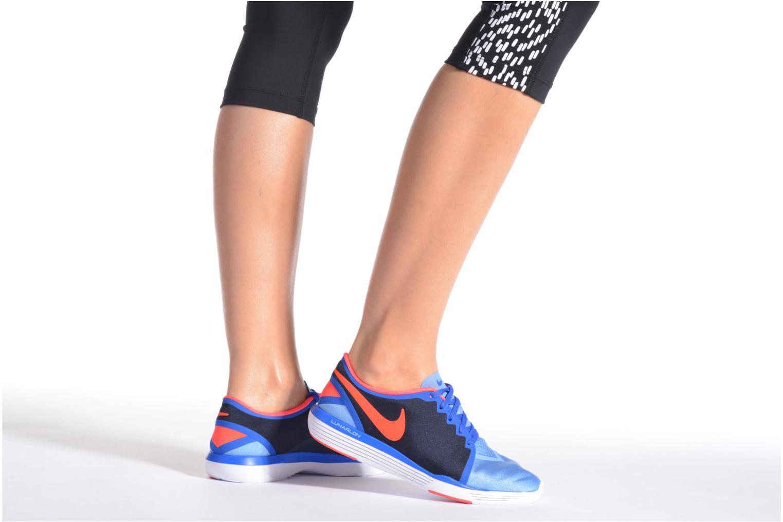Chaussures de sport Nike Wmns Nike Lunar Sculpt Bleu vue bas / vue portée sac