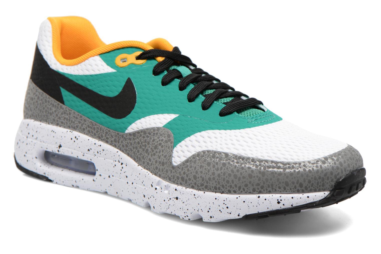 Nike Air Max 1 Ultra Essential White/Blk-Emrld Grn-Rflct Slvr
