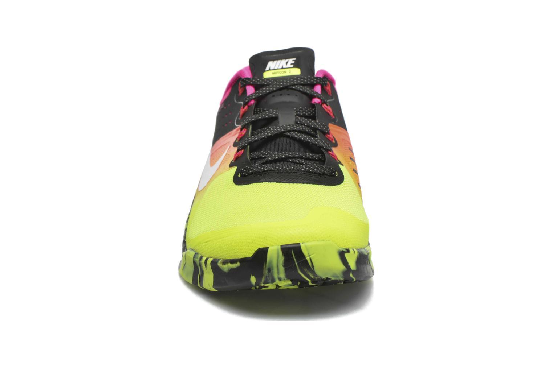 Sportschuhe Nike Nike Metcon 2 gelb schuhe getragen