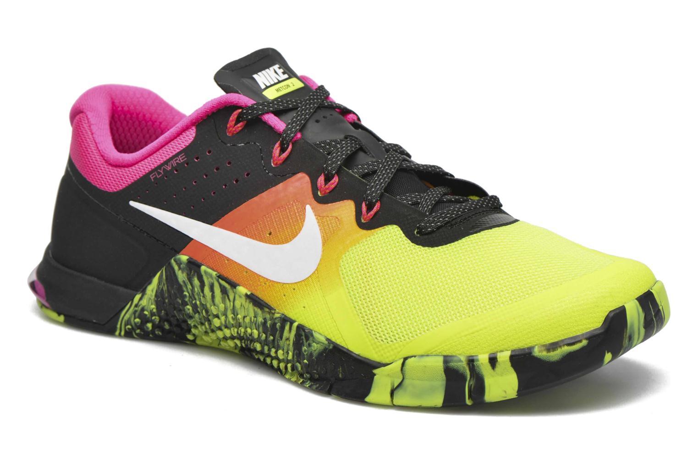 Chaussures de sport Nike Nike Metcon 2 Jaune vue détail/paire