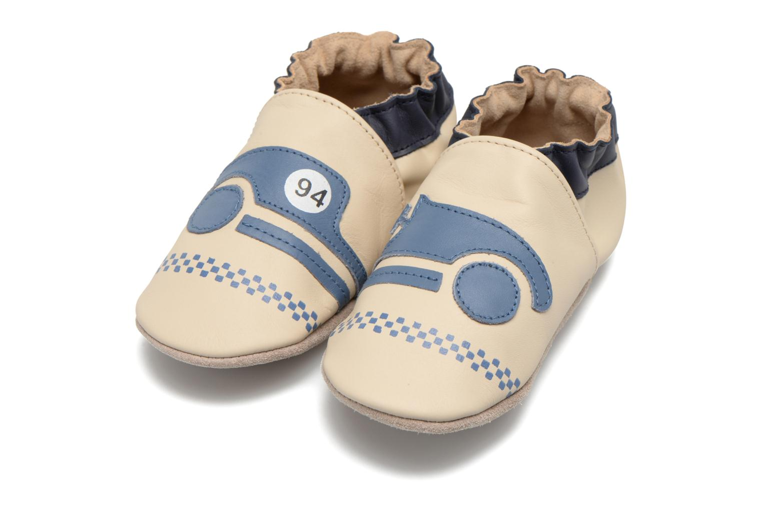 Pantoffels Robeez Racing Car Beige 3/4'