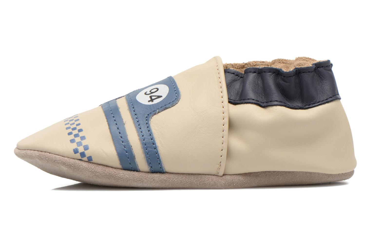 Chaussons Robeez Racing Car Beige vue face
