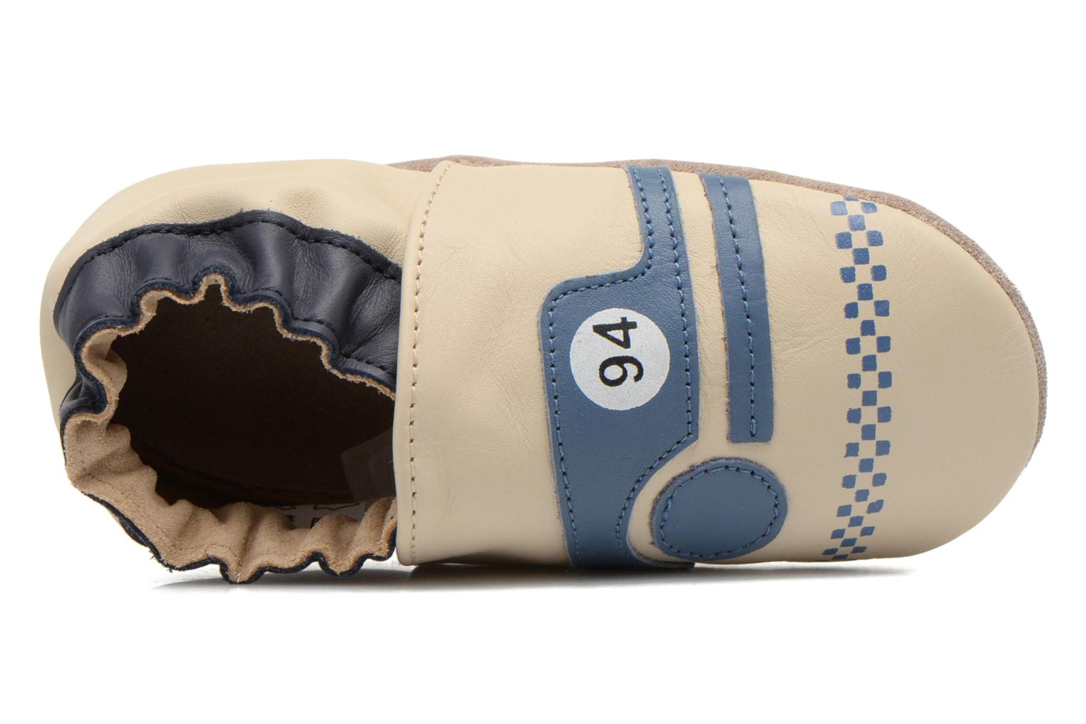 Slippers Robeez Racing Car Beige view from the left