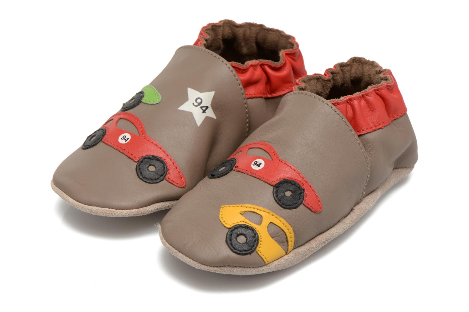 Chaussons Robeez Rally Party Beige vue 3/4