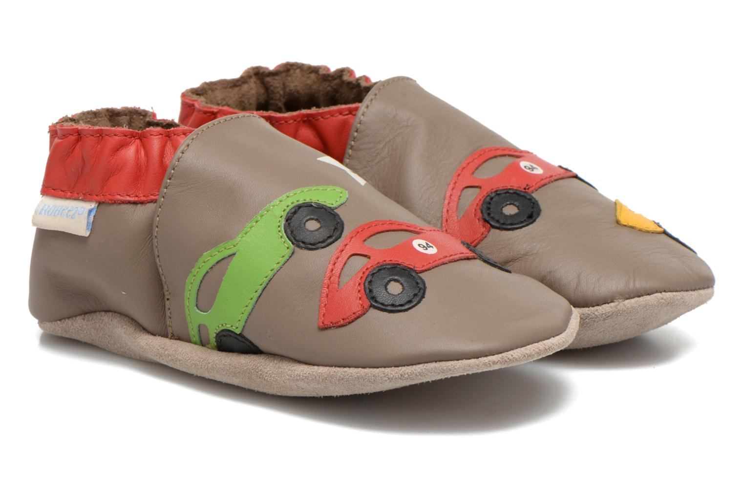 Slippers Robeez Rally Party Beige detailed view/ Pair view