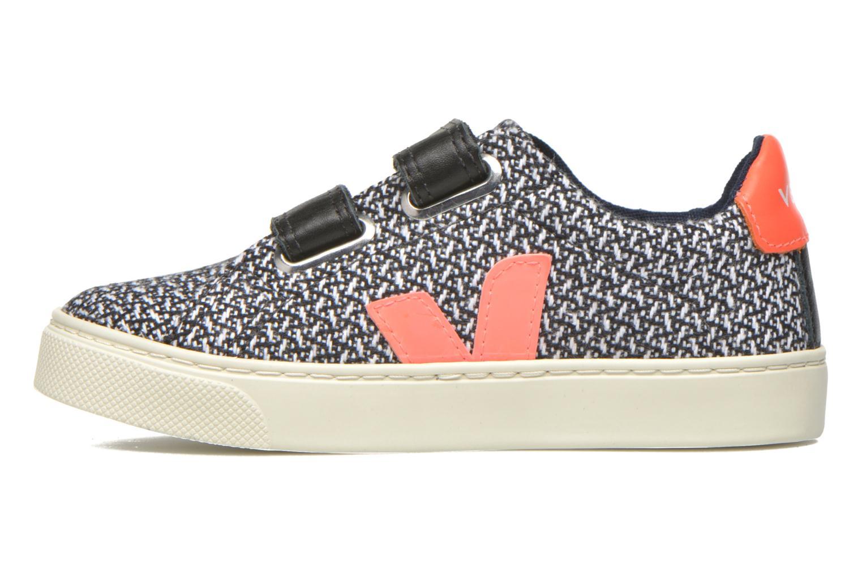 Sneaker Veja Esplar Small Velcro schwarz ansicht von vorne