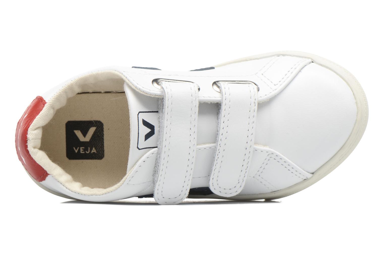 Sneaker Veja Esplar Small Velcro weiß ansicht von links
