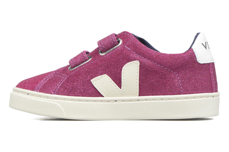 Sneaker Veja Esplar Small Velcro lila ansicht von vorne