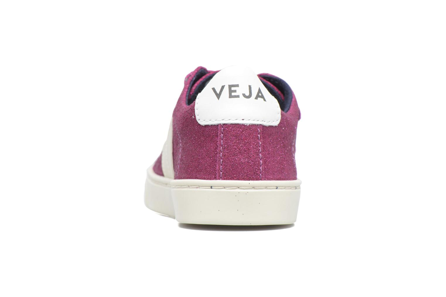 Trainers Veja Esplar Small Velcro Purple view from the right