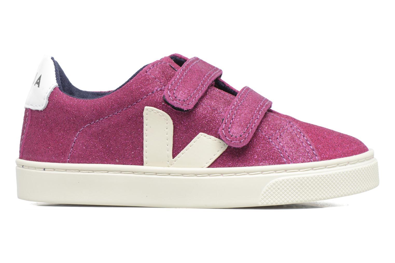Sneaker Veja Esplar Small Velcro lila ansicht von hinten