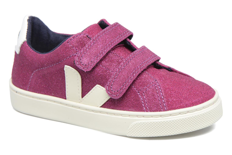 Baskets Veja Esplar Small Velcro Violet vue détail/paire