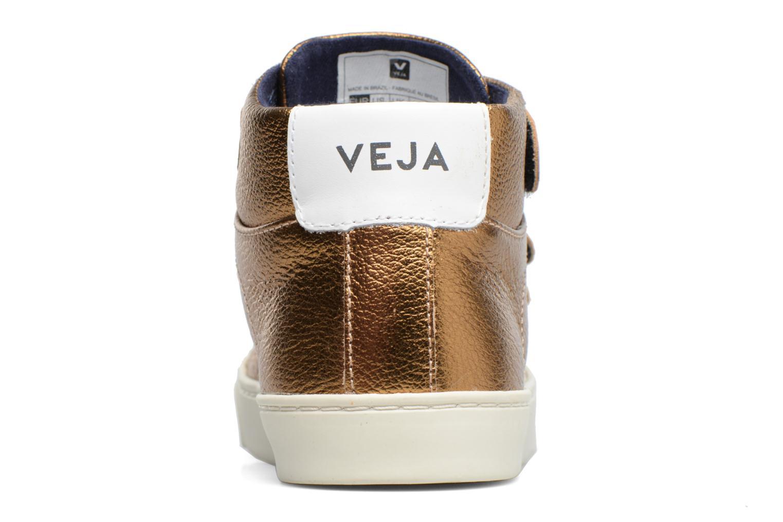 Sneakers Veja Esplar Mid Small Velcro Goud en brons rechts
