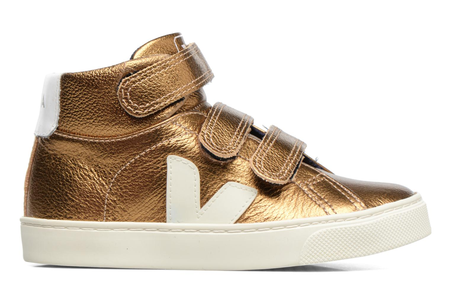 Trainers Veja Esplar Mid Small Velcro Bronze and Gold back view