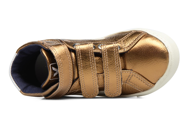 Baskets Veja Esplar Mid Small Velcro Or et bronze vue gauche