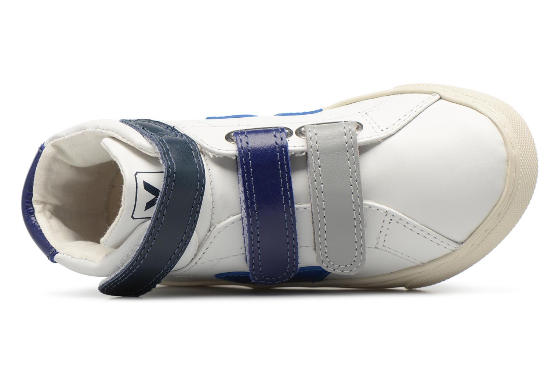 Baskets Veja Esplar Mid Small Velcro Beige vue gauche
