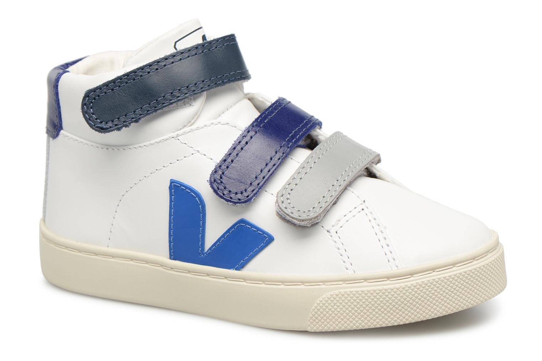 Baskets Veja Esplar Mid Small Velcro Beige vue détail/paire