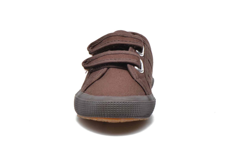 Baskets Superga 2750 Conbinvj Marron vue portées chaussures