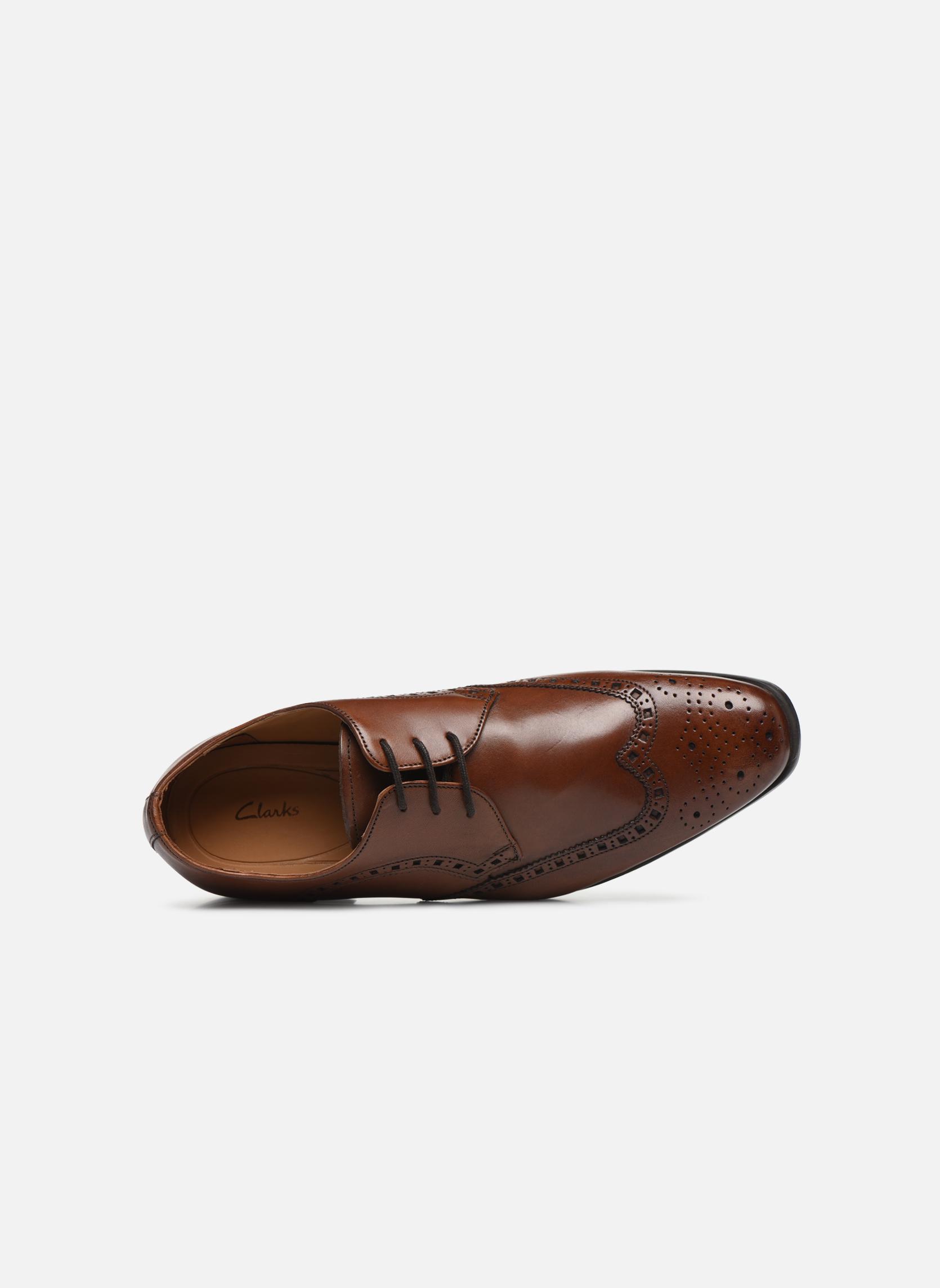 Zapatos con cordones Clarks Amieson Limit Marrón vista lateral izquierda