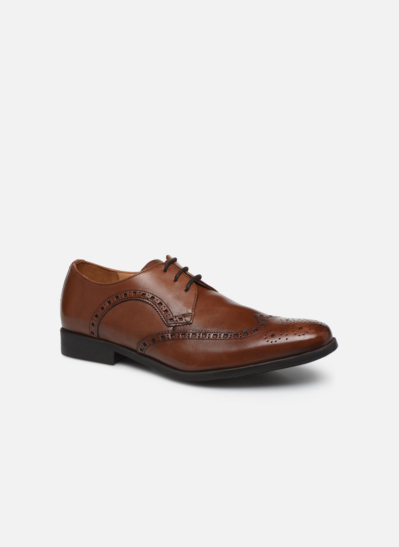 Snøresko Clarks Amieson Limit Brun detaljeret billede af skoene