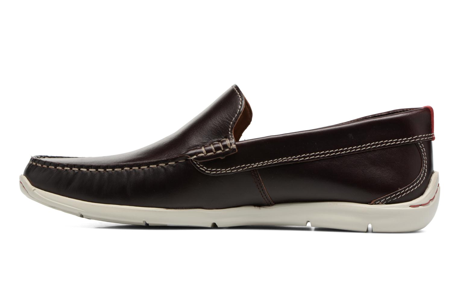 Mocassins Clarks Karlock Lane Marron vue face