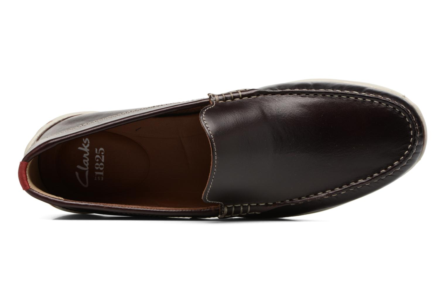 Loafers Clarks Karlock Lane Brown view from the left