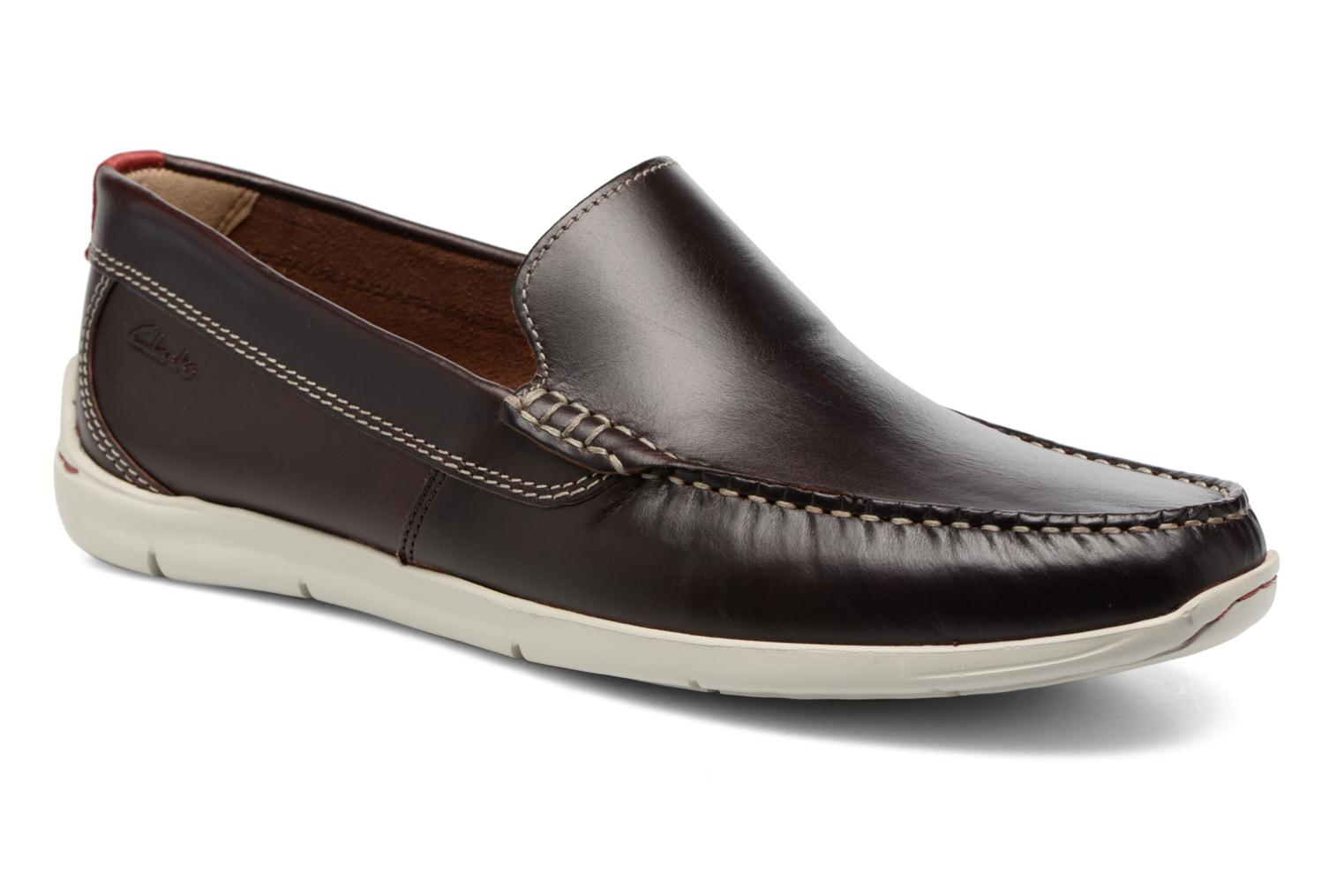 Loafers Clarks Karlock Lane Brown detailed view/ Pair view