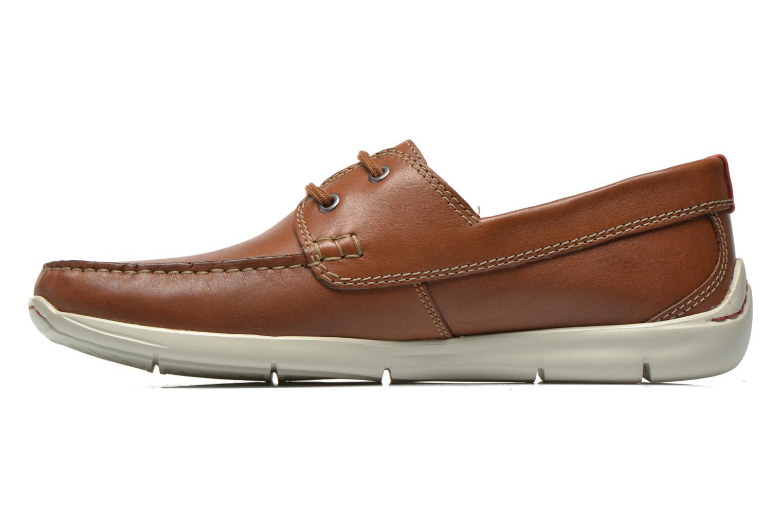 Snörade skor Clarks Karlock Step Brun bild från framsidan